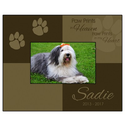 Personalized Paw Prints 4x6 Picture Frame